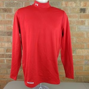 Under Armour Cold Gear Mock Shirt Red Size Large